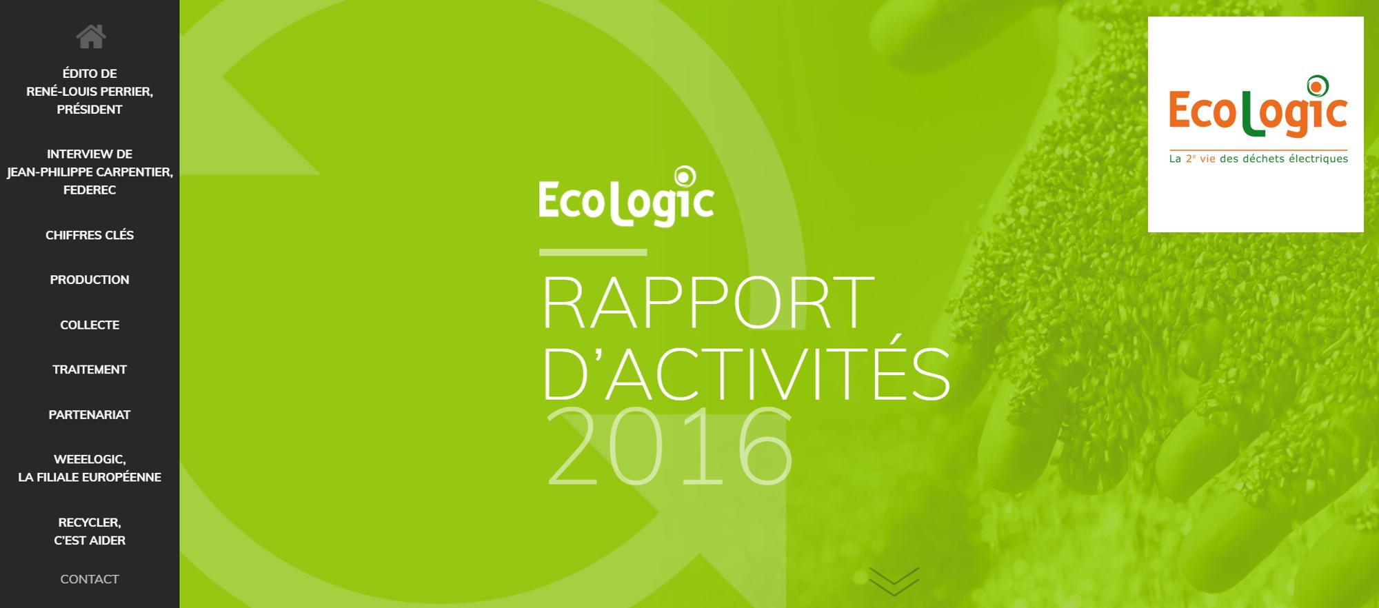 annual report ecologic 2016