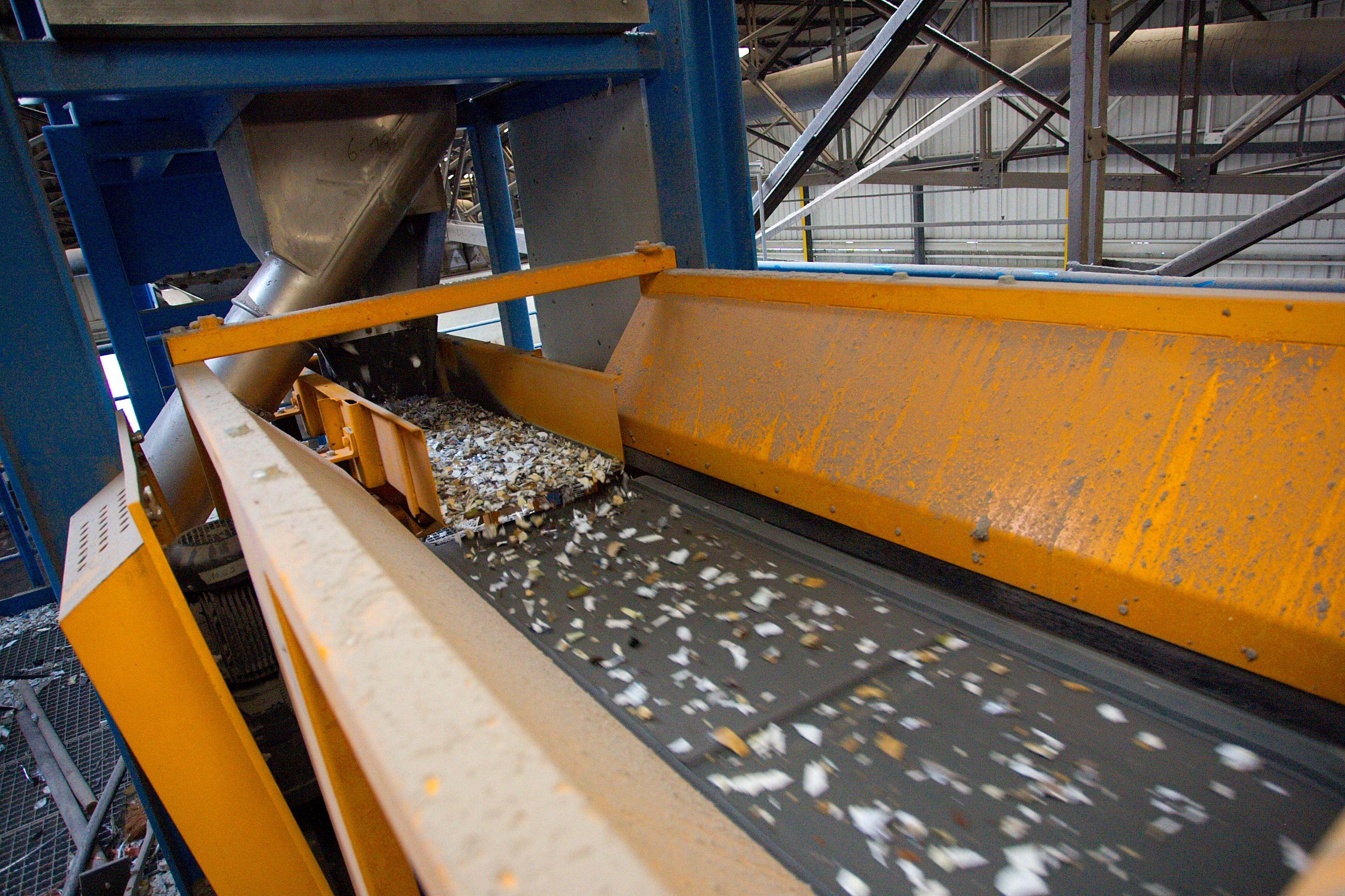 material recycling conveyor belt